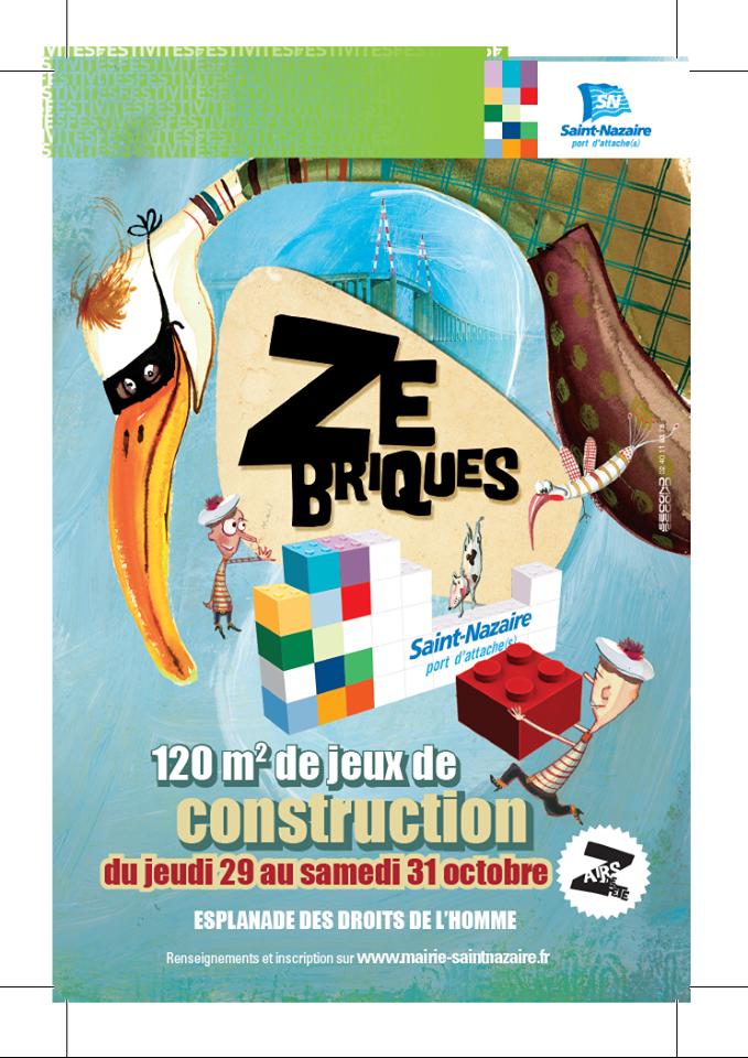 Affiche Ze Briques St Nazaire oct 2015